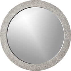 "polyterrazzo 29.5"" round wall mirror"