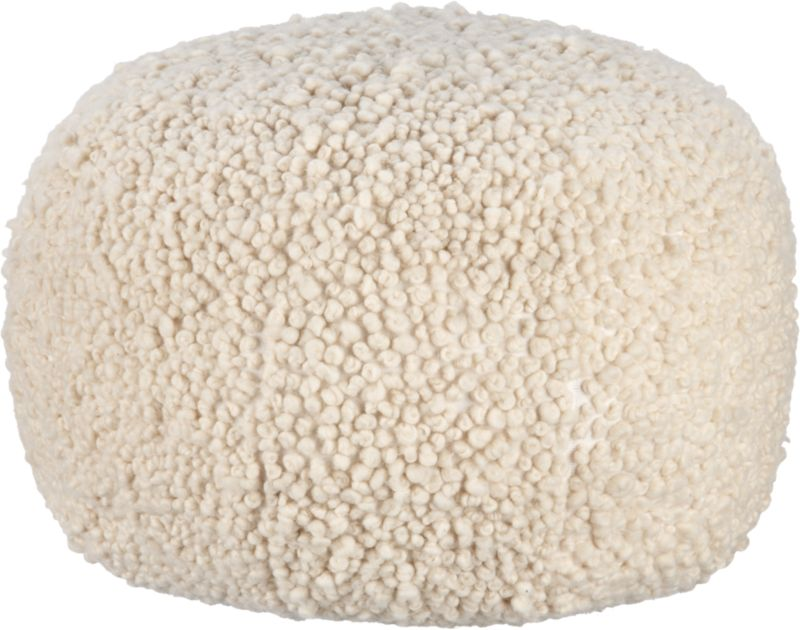 CB2 - Poodle Poof in Wool