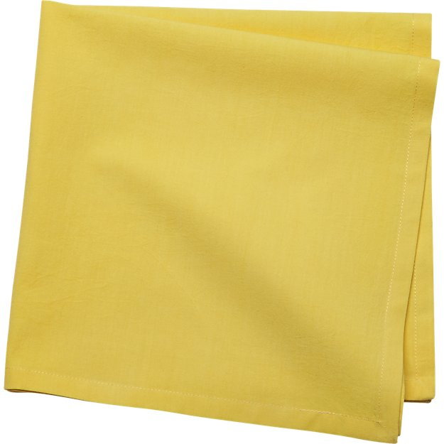 poplin chartreuse napkin