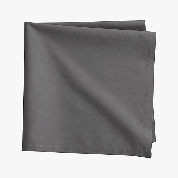 poplin grey napkin
