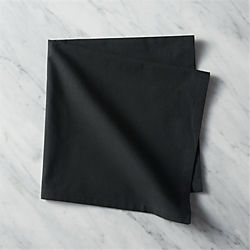 poplin black napkins set of eight