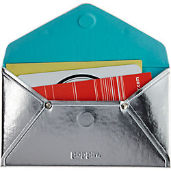 Poppin ® silver card case
