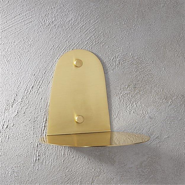 portal brushed gold shelf