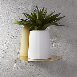 portal brushed gold shelf