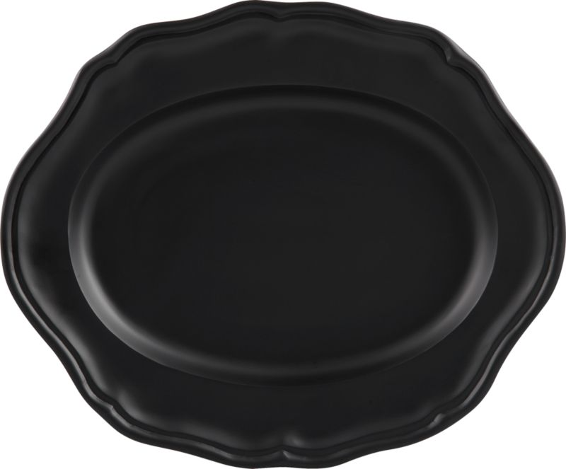 portrait black platter