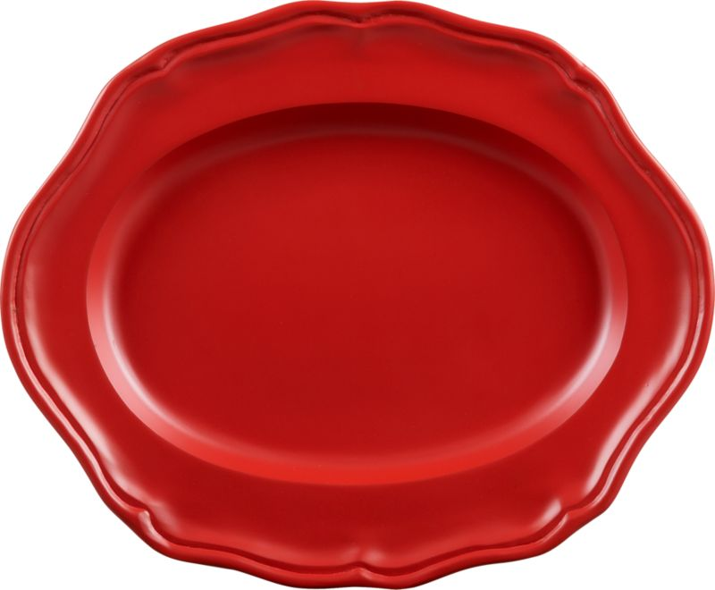 portrait red platter