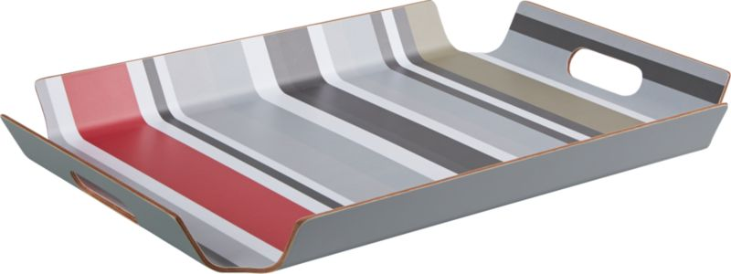 prep striped tray
