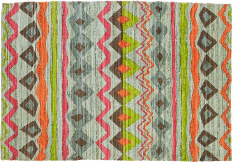printed nic garment hook rug 6'x9'