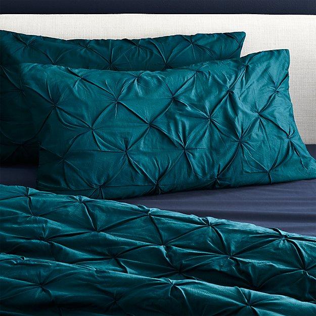 set of 2 king prisma blue-green shams