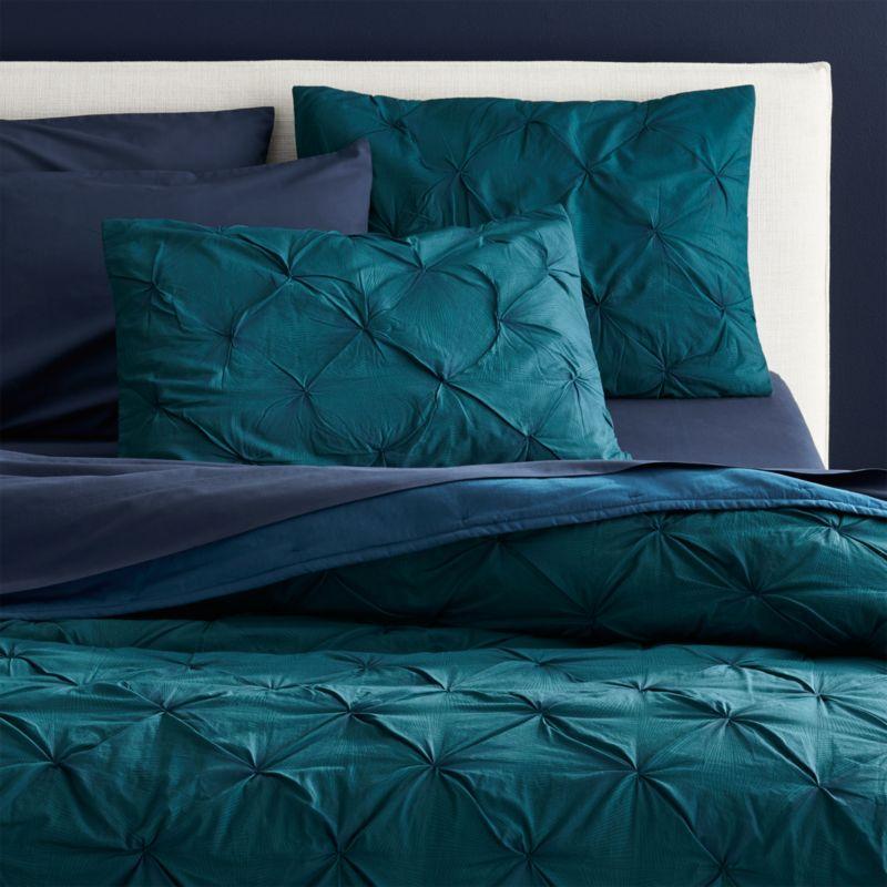 Prisma Blue Green Bedding Cb2