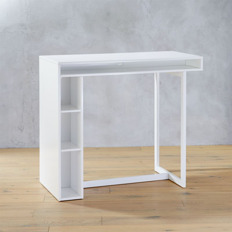 "public white 42"" high dining t"