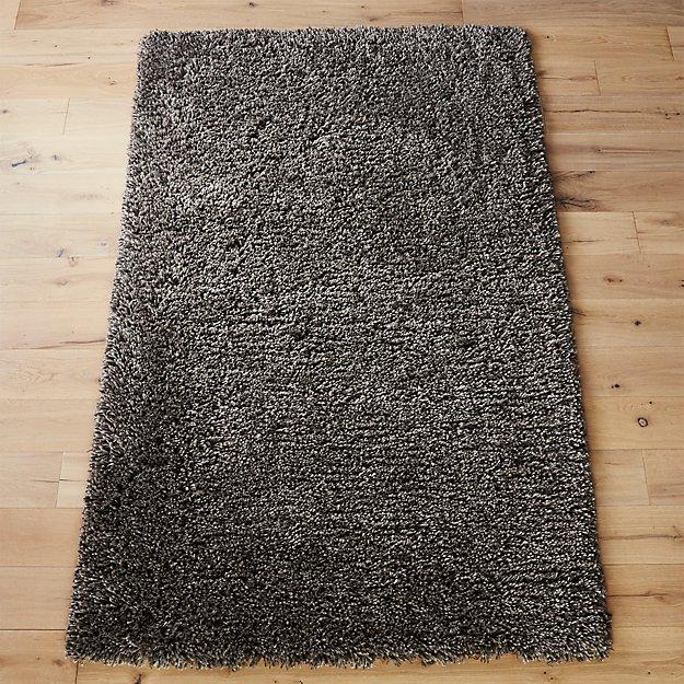 puli grey shag rug