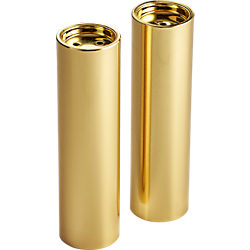 2-piece pull brushed gold salt and pepper set