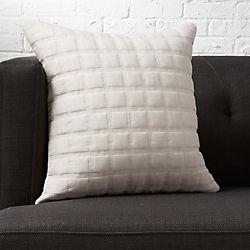 "quadro quilted natural 18"" pillow"
