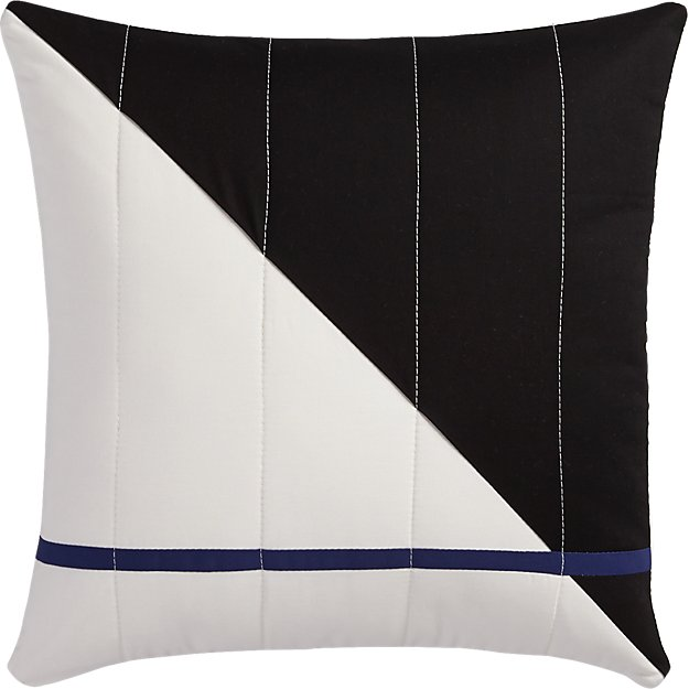 """quilted 101 18"""" pillow with feather-down insert"""