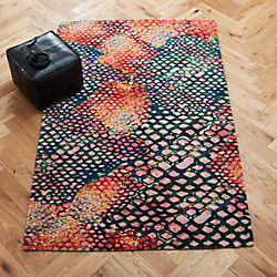 rainbow snake rug