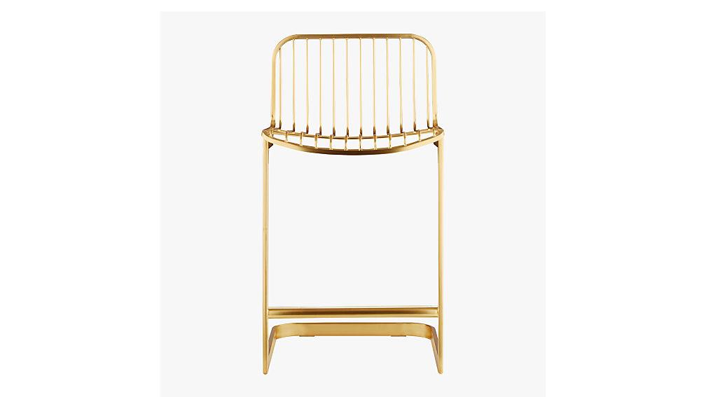 "rake brass 24"" counter stool"