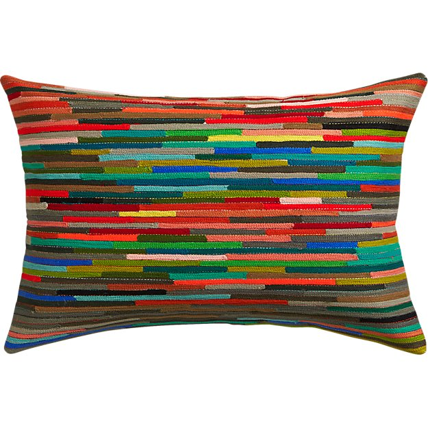 "rapid transit embroidered 18""x12"" pillow"