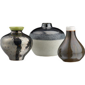 3-piece reactive vase set