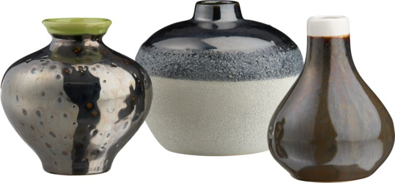 3-piece reactive vase set