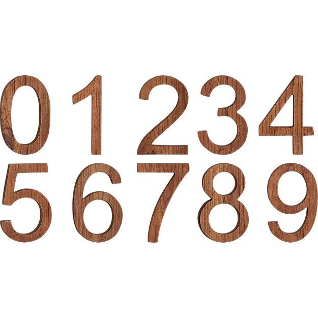 reclaimed teak house numbers