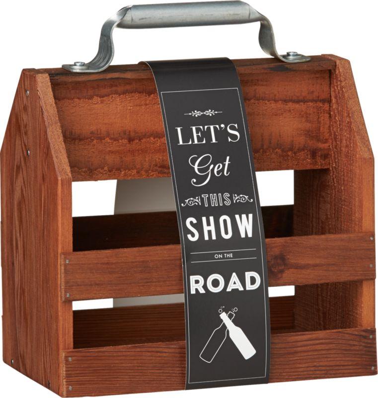 reclaimed wood 6-pack holder