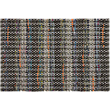 recycled cotton grey-orange rug 2'x3'