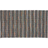recycled cotton grey-orange rug