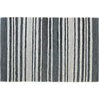 recycled leather stripe rug 6'x9'.