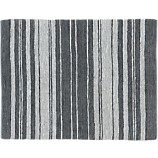 recycled leather stripe rug 8'x10'
