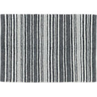 recycled leather stripe rug 9'x12'.