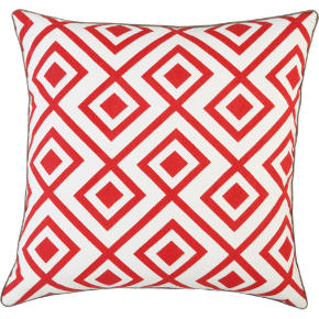 red diamonds 20 pillow