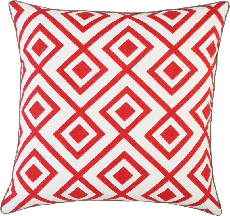"red diamonds 20"" pillow"