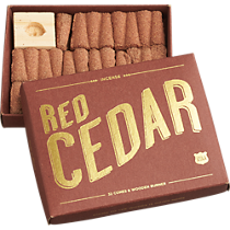 red cedar incense gift set