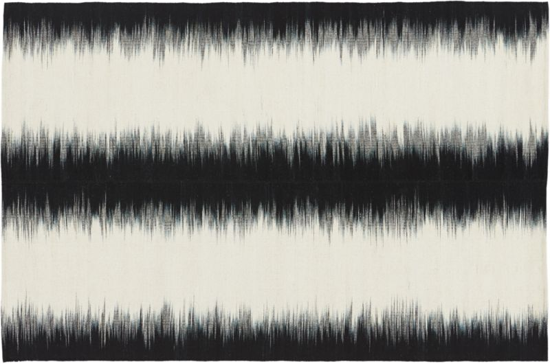 reverb black rug 6'x9'