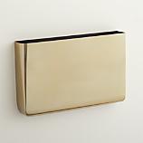 revere gold wall mounted magazine storage