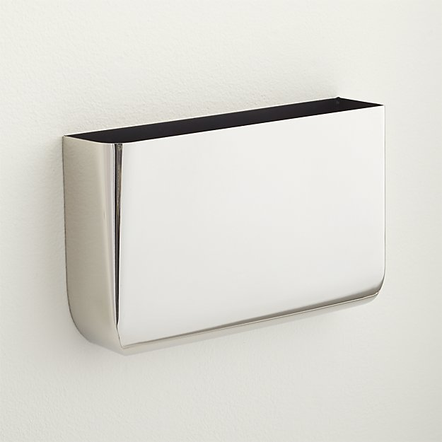 revere silver wall mounted storage