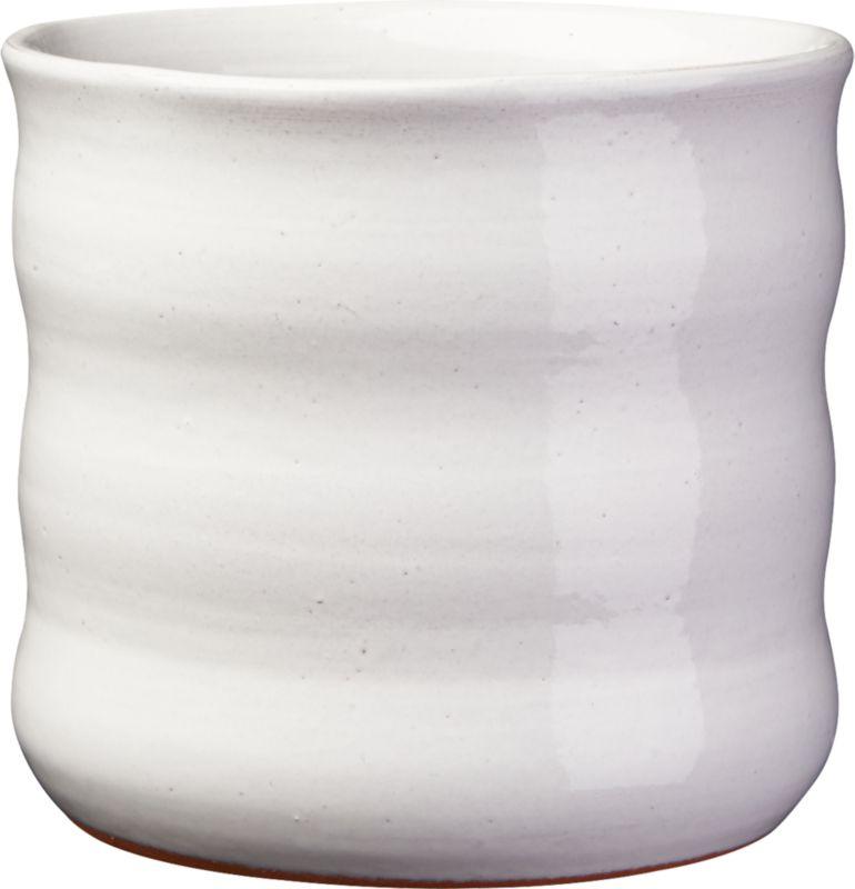 ripple white planter