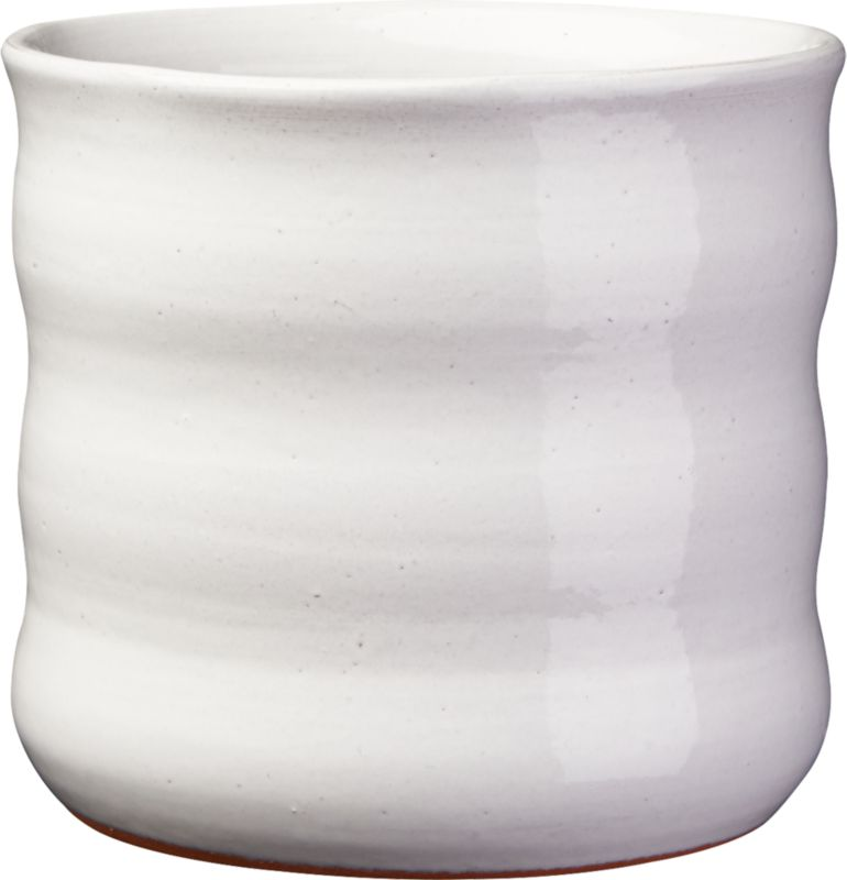ripple white planter