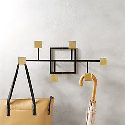 rise and fall coat rack