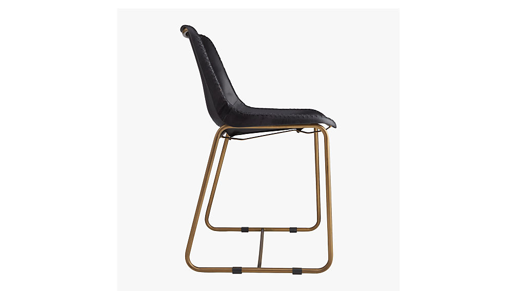 roadhouse black leather chair