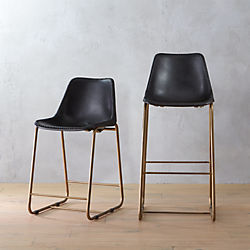 roadhouse black leather bar stools