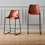 roadhouse leather bar stools