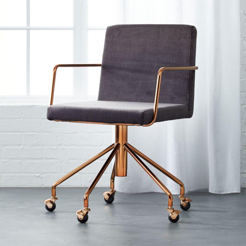Rouka Office Chair Rouka Grey Cb2