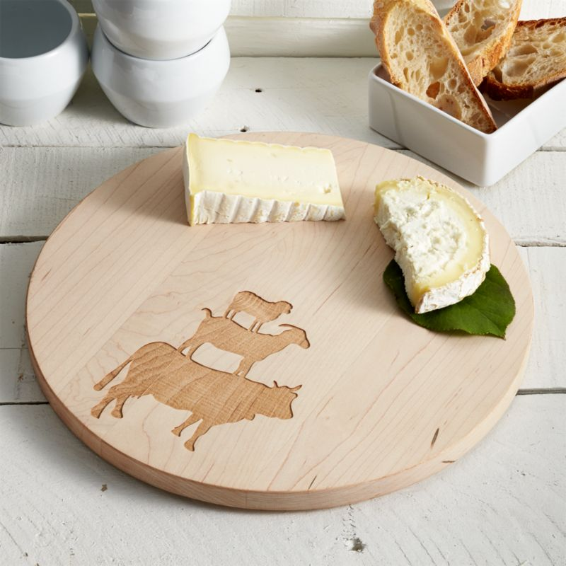 round wood cheese board