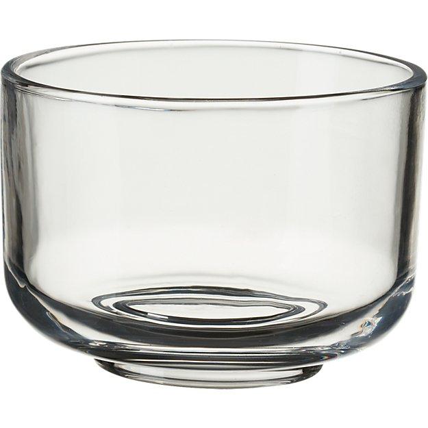 roundish glass mini bowl