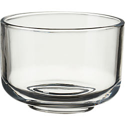 roundish glass mini bowl
