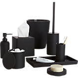 rubber coated black bath accessories