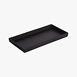 rubber coated black tank tray