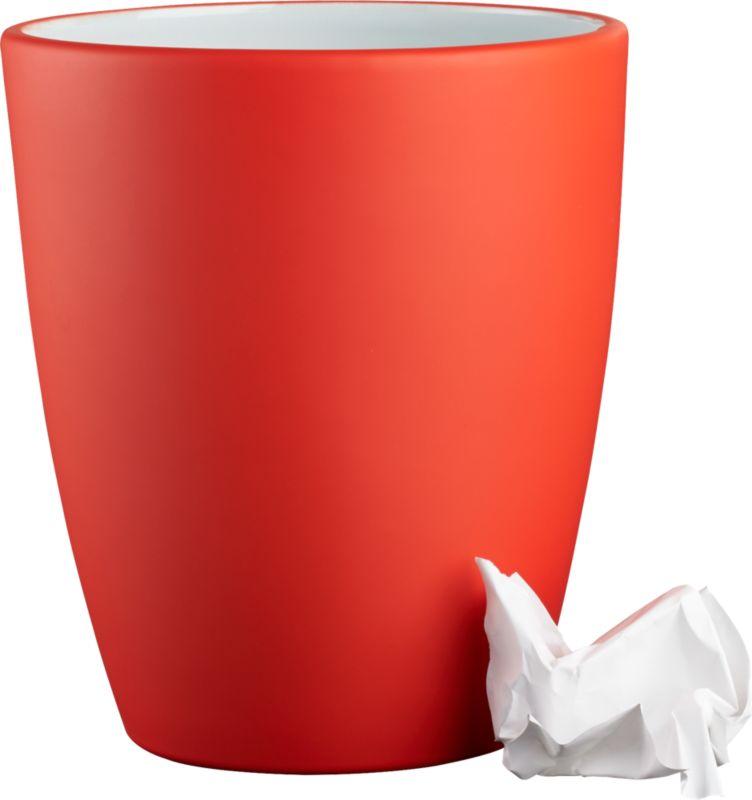 rubber coated orange wastecan